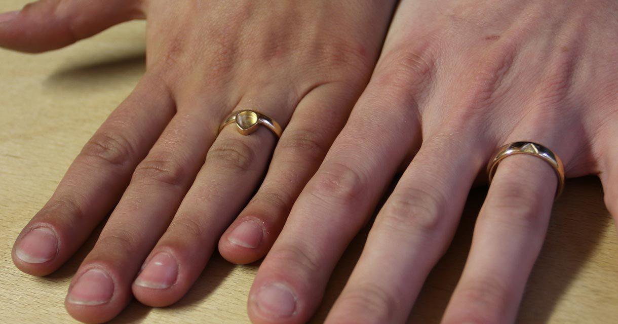 Wir sind begeistert von unseren Ringen und dem tollen Schmiedetag